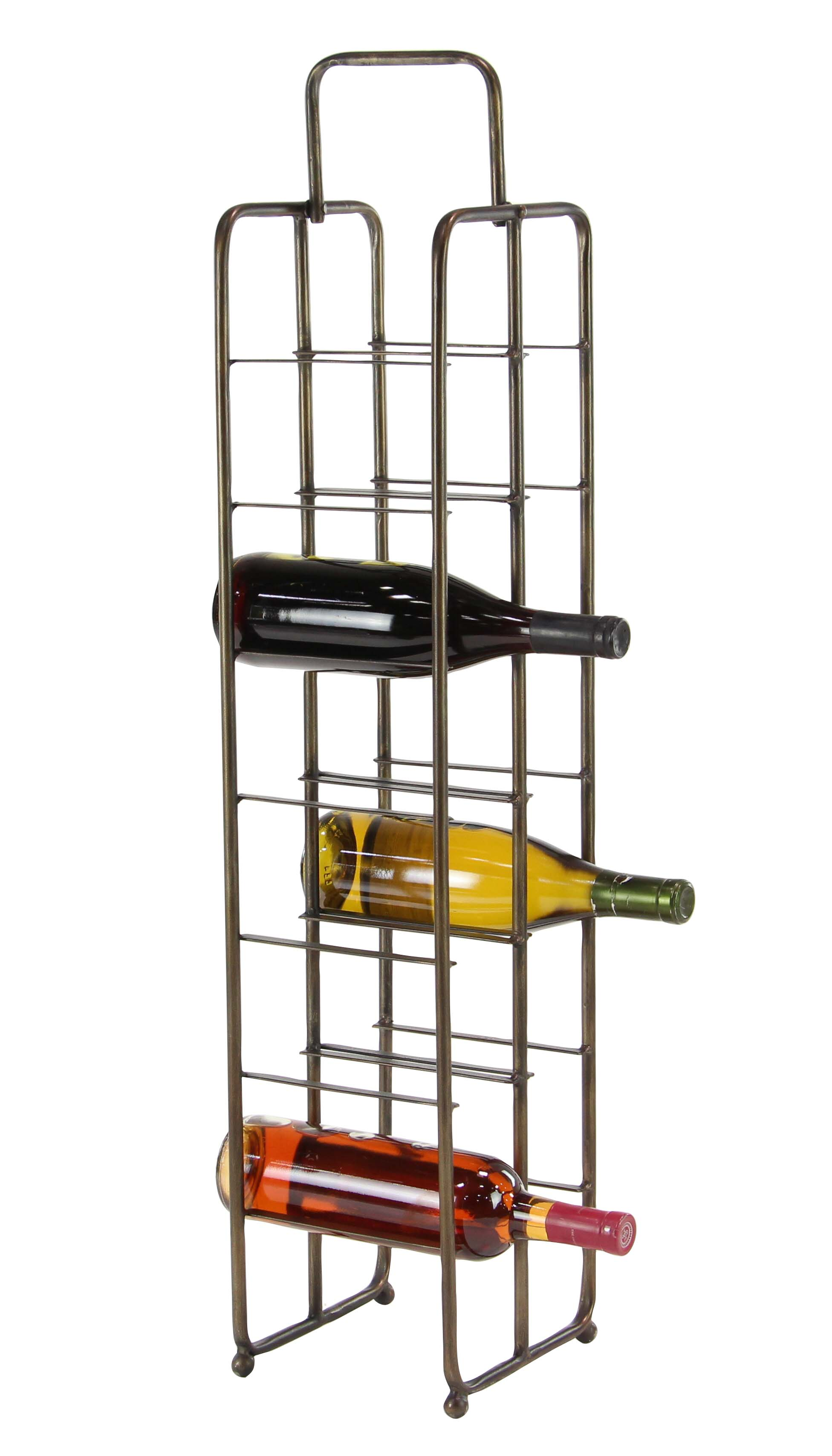 Metal Wine Storage Racks Decmode Contemporary 14 Bottle Iron Wine Storage Rack Brass