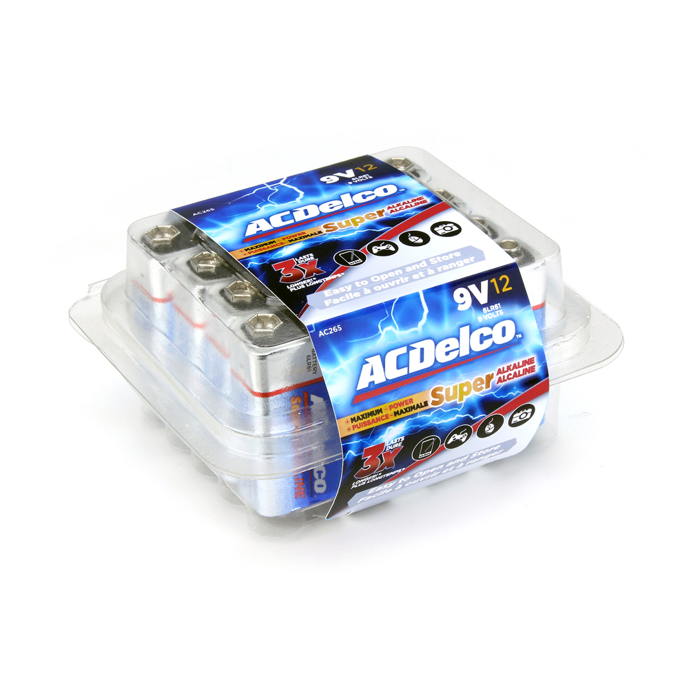 9 Volt Batterie Acdelco 9v Batteries Super Alkaline 9 Volt Battery 12 Count
