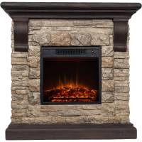 "Decor Flame Electric 1500W Fireplace with 41"" Mantle ..."