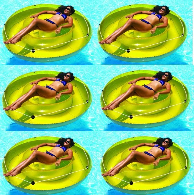 Swimline 9050 72 Swimming Pool Sun Tan Lounger Island Float Inflatables 6 Pack Walmart Com - Loungers Aim Float