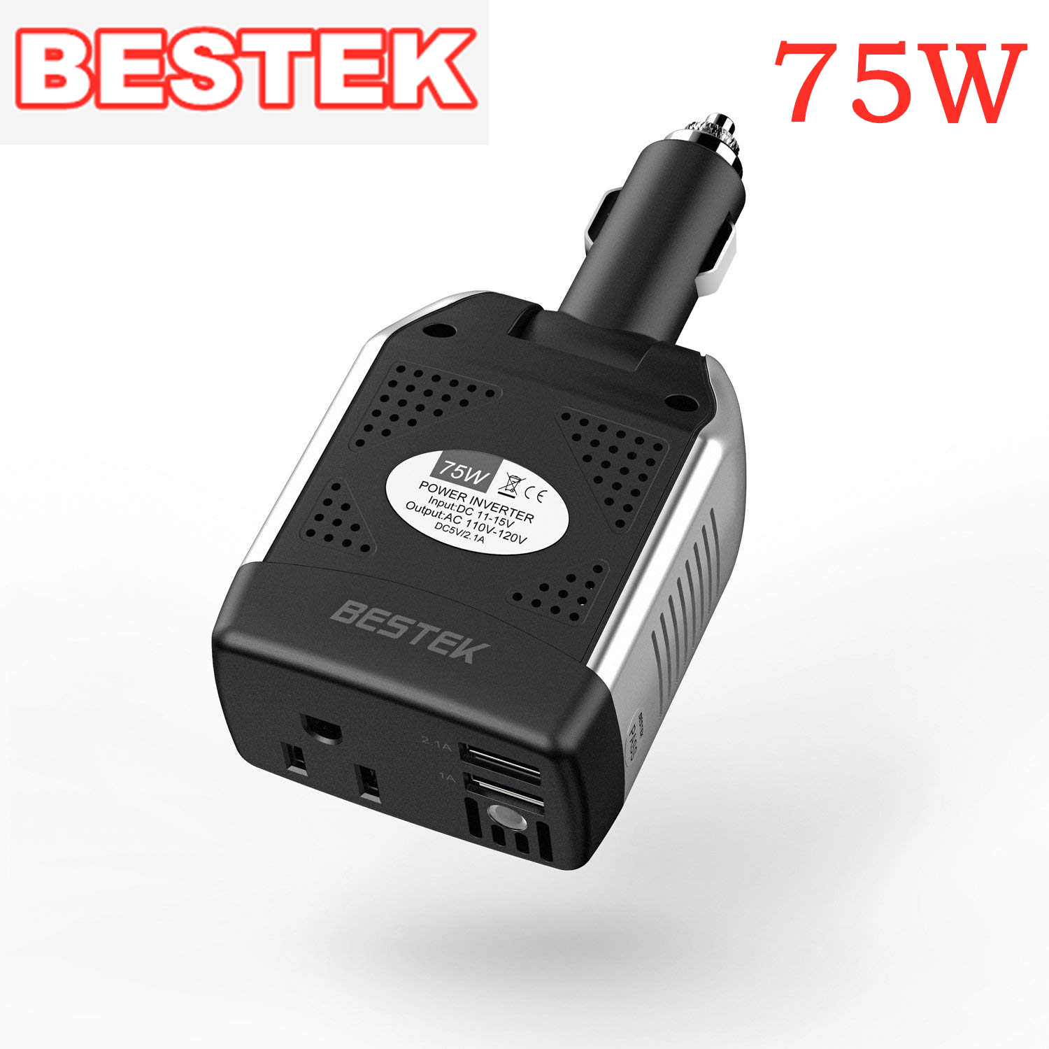 Ac Converter Bestek 75w Power Inverter Dc 12v To 110v Ac Car Inverter Power Converter