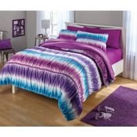 your zone ruched tie dye comforter set - Walmart.com