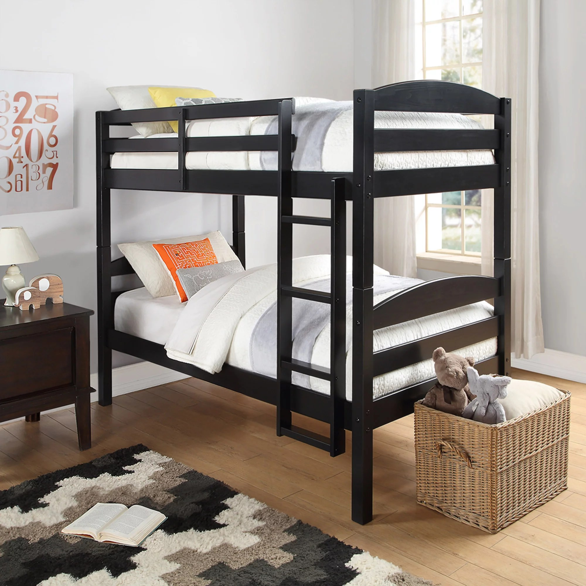 Beds And Beds Better Homes And Gardens Leighton Twin Over Twin Wood Bunk Bed Multiple Finishes
