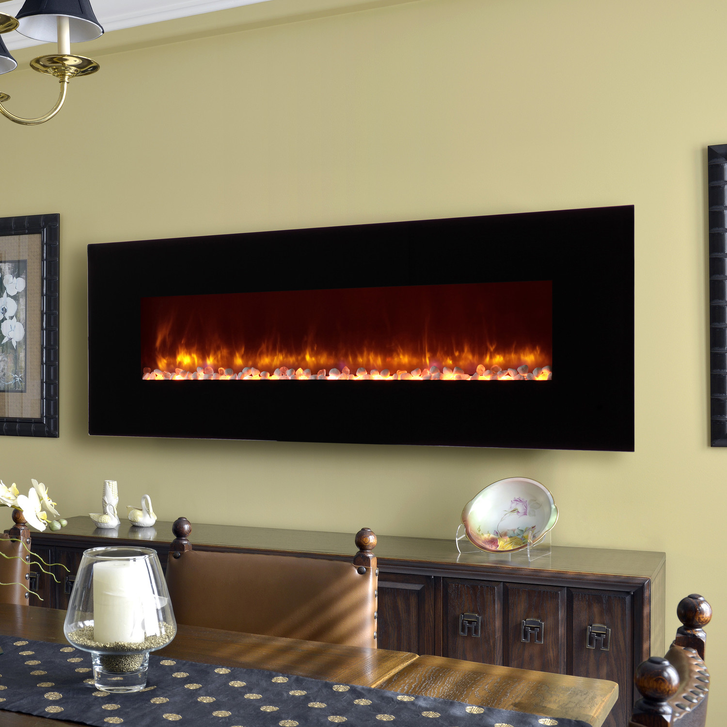 Wall Mount Fireplace Heaters Clevr 750 1500w 48