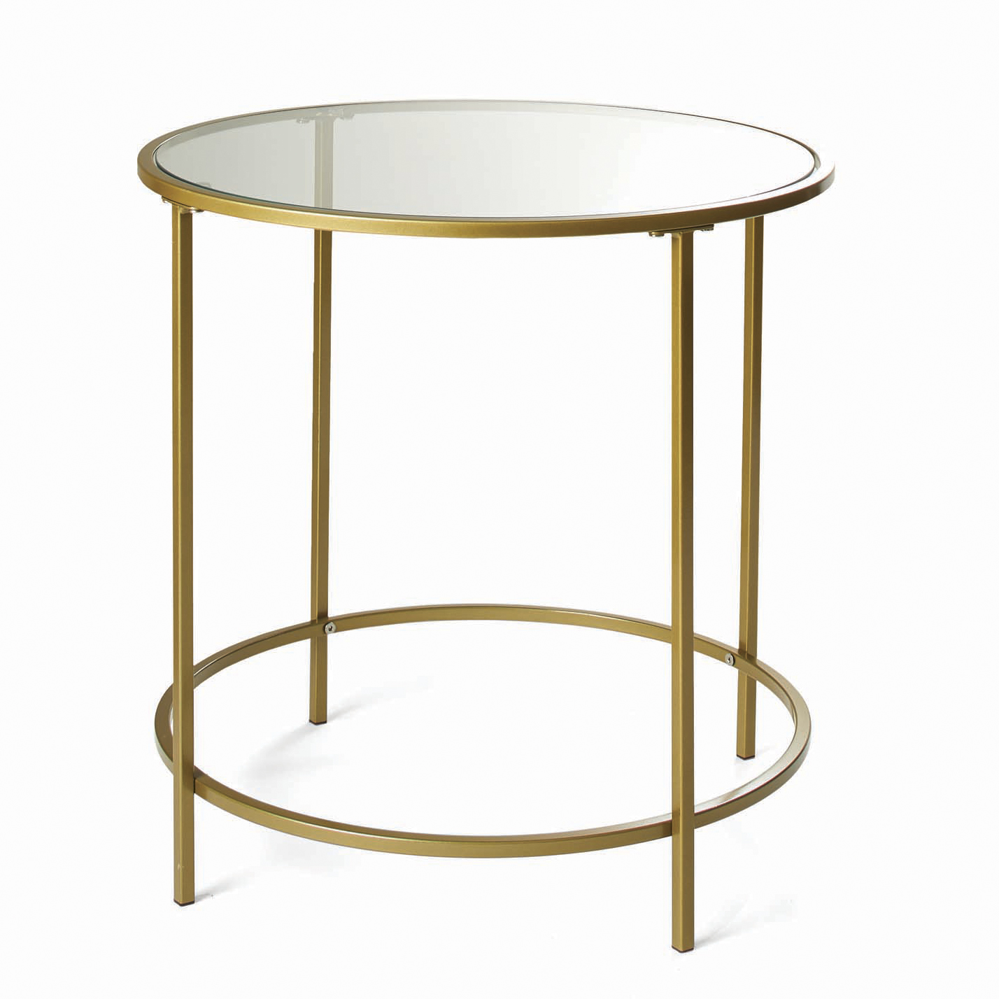 Round Glass Bedside Table Details About Round Glass Side Table Metal Gold Frame End Bedside Tables Accent Living Room