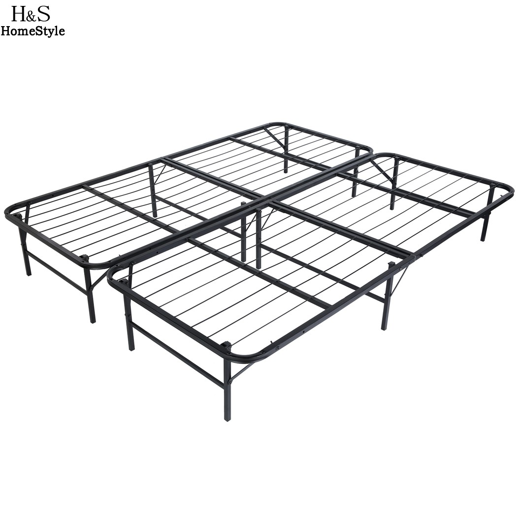 Homdox King Size Metal Folding Platform Bed Frame Base