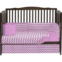 Baby Doll Bedding Chevron 4 Piece Crib Bedding Set ...
