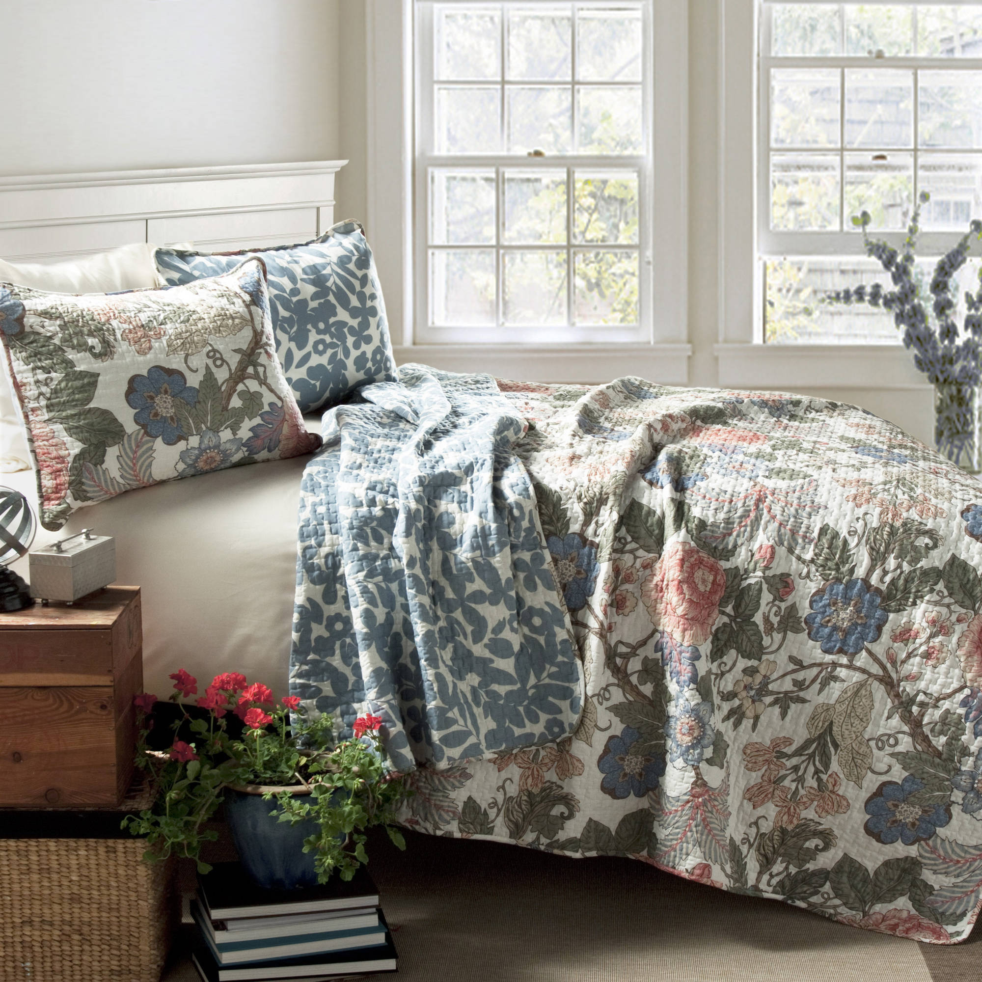 Quilt Sets Sydney 3 Piece Quilt Set Green Blue