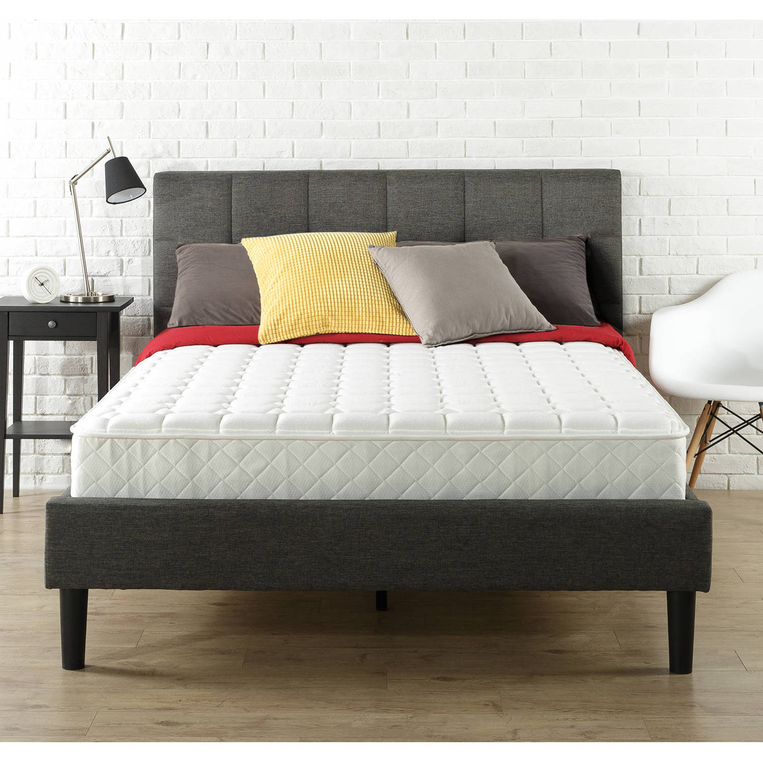 How Big Is A Queen Size Bed Uk Details About Queen Size 8 Mattress In A Box Tight Top Bed Mattress W Individual Spring Coil
