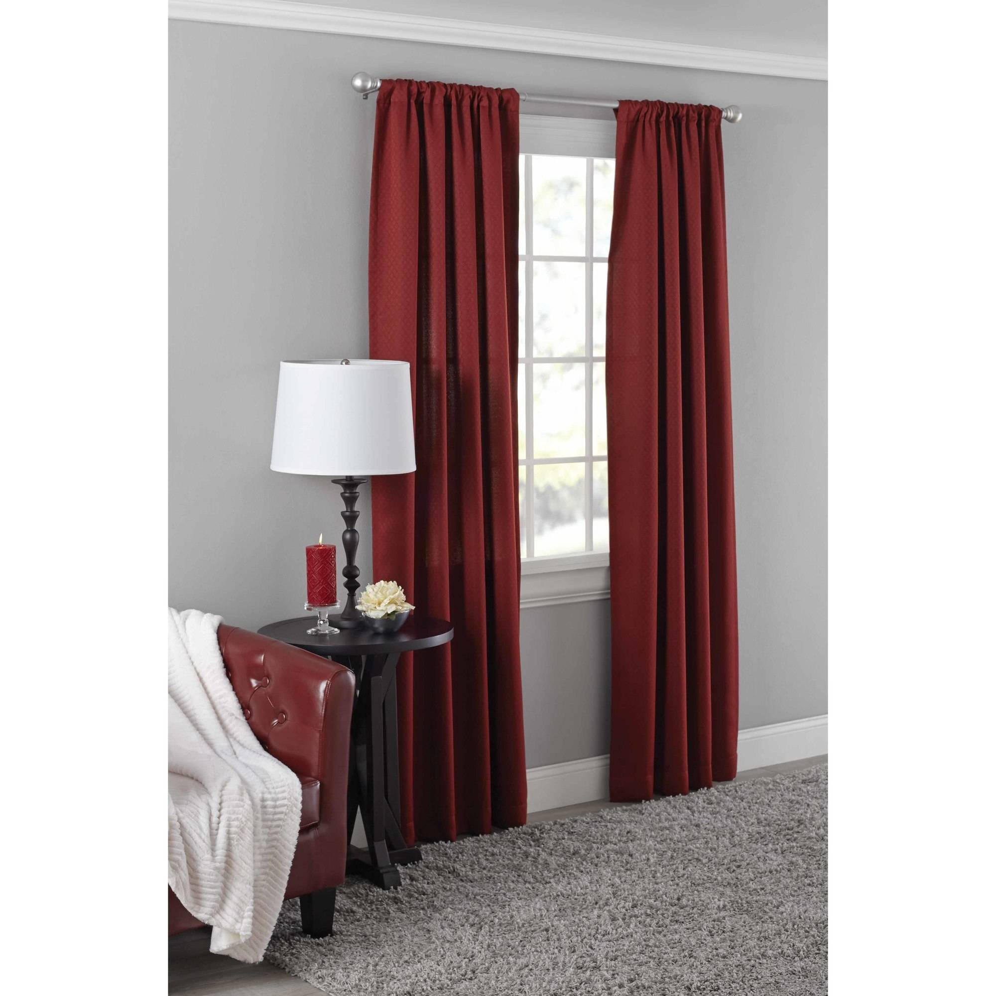 36 Inch Room Darkening Curtains Mainstays Diamond Room Darkening Curtain Panel In Multiple Sizes And Colors