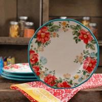 """The Pioneer Woman Vintage Floral 10.5"""" Dinner Plate Set"""