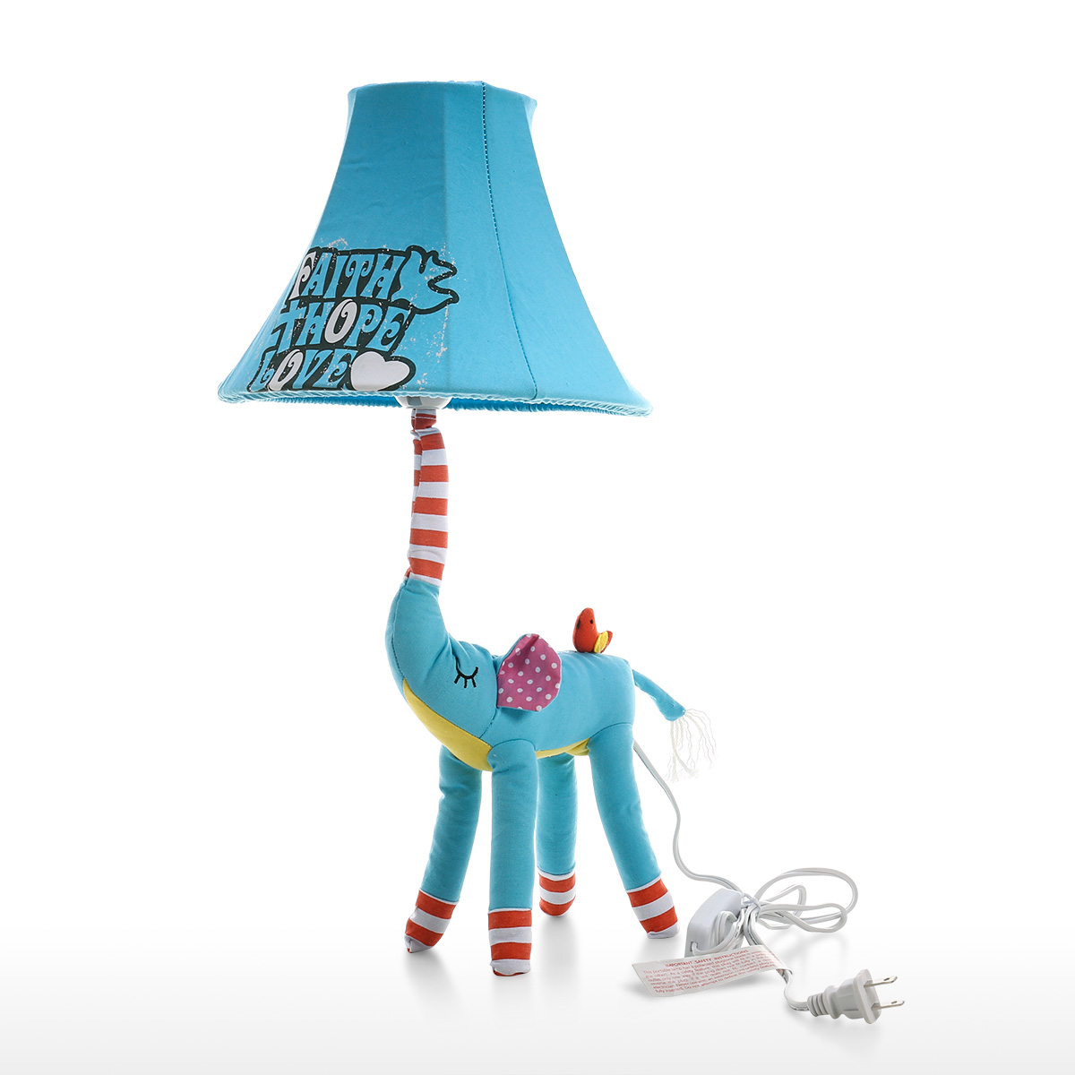 Animal Lamp For Nursery Blue Elephant Lamp Us Plug Animal Lamp Kids Table Lamp Night Light For Kids Lampshade For Children Bedroom Nursery Room Without Led Bulb