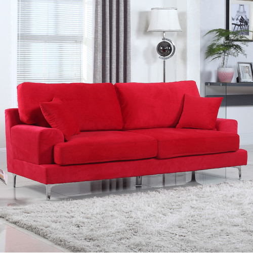 Walmart Usa Sofas Madison Home Usa Ultra Modern Plush Velvet Living Room