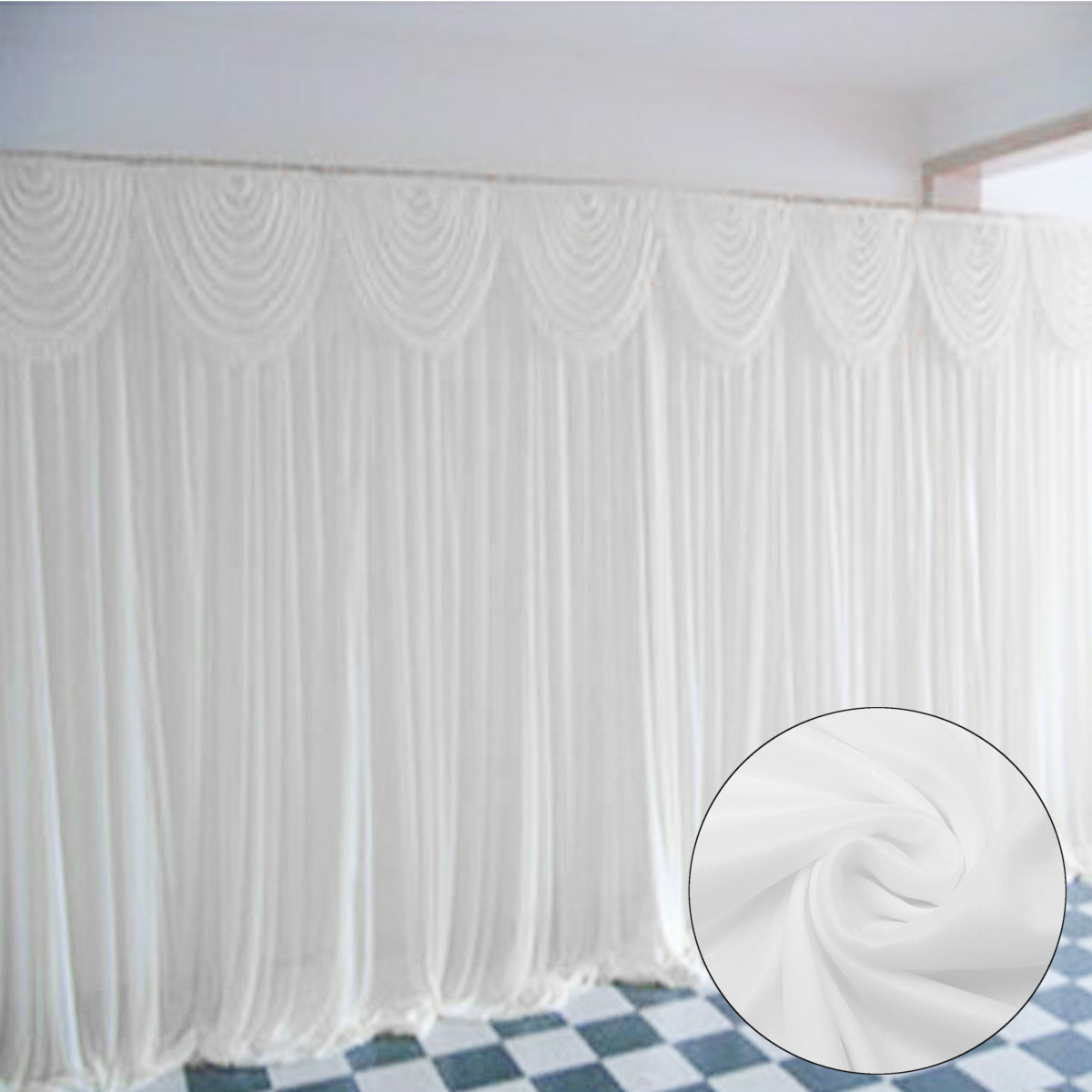 Draping Curtains Meigar Wedding Stage Backdrop 118 X118 Photography Background Draping Swags Drape Curtains Wedding Party Decorations