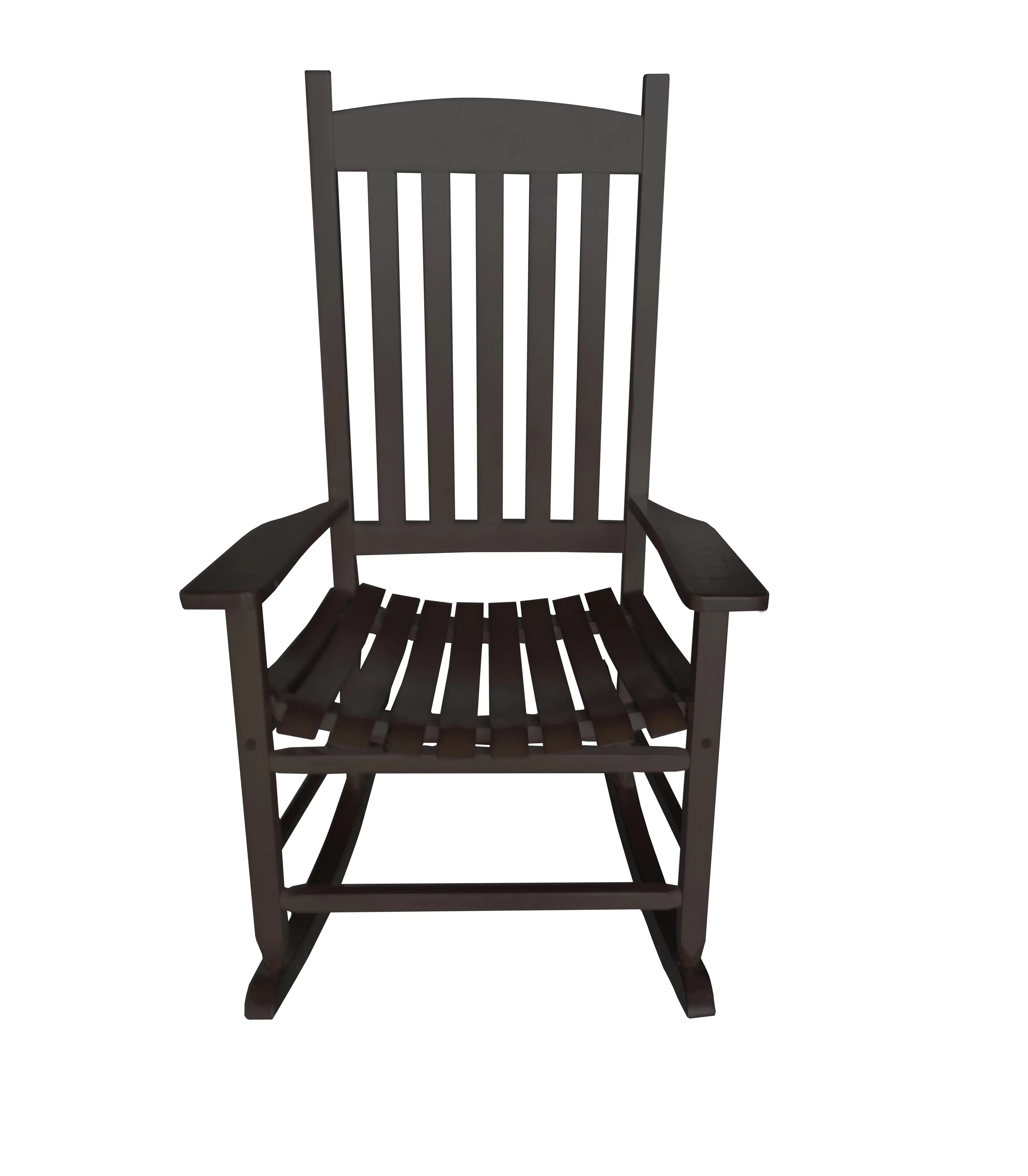 Rocking Chair Mainstays Outdoor Wood Slat Rocking Chair