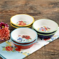 The Pioneer Woman Spring 5-Inch Mini Pie Plates, Set of 6 ...