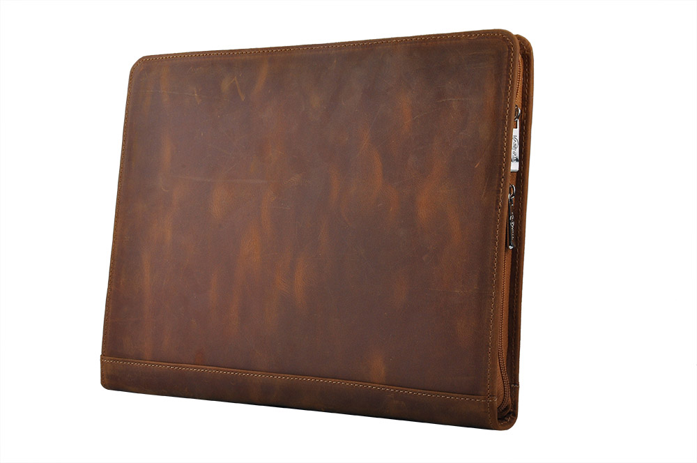 Icarryalls Ipad Document Binder Case Rustic Leather