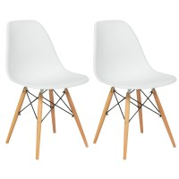 Set of (2) Eames Style Dining Chair Mid Century Modern ...
