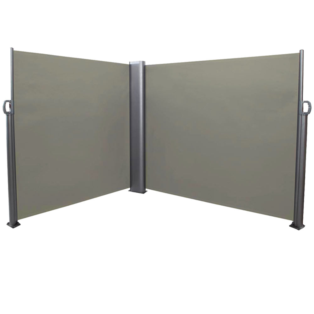 Store Retractable Exterieur Sunnydaze Patio Retractable Double Privacy Wall Corner Outdoor Folding Screen Divider With Steel Support Pole 10 X 6 Feet Grey