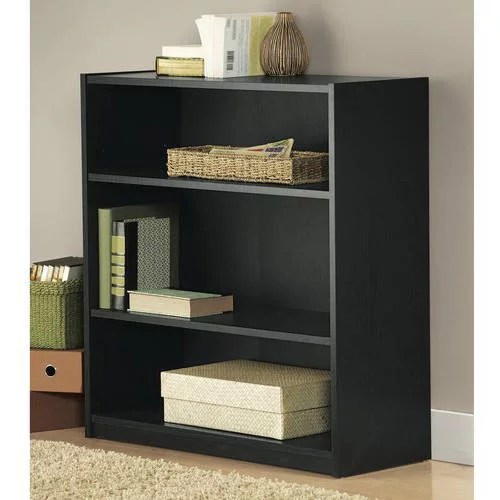 Mainstays 3 Shelf Standard Wood Bookcase Multiple Colors