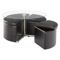 Standard Furniture Cosmo Adjustable Height Round Glass Top ...