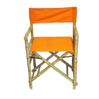 Bamboo54 Folding Bamboo Low Directors Chair with Canvas ...