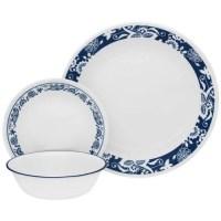 Corelle 16-Piece Livingware True Blue Dinnerware Set ...