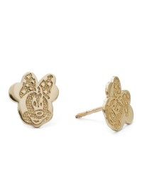 Disney - 10kt Yellow Gold Minnie Mouse Stud Earrings ...