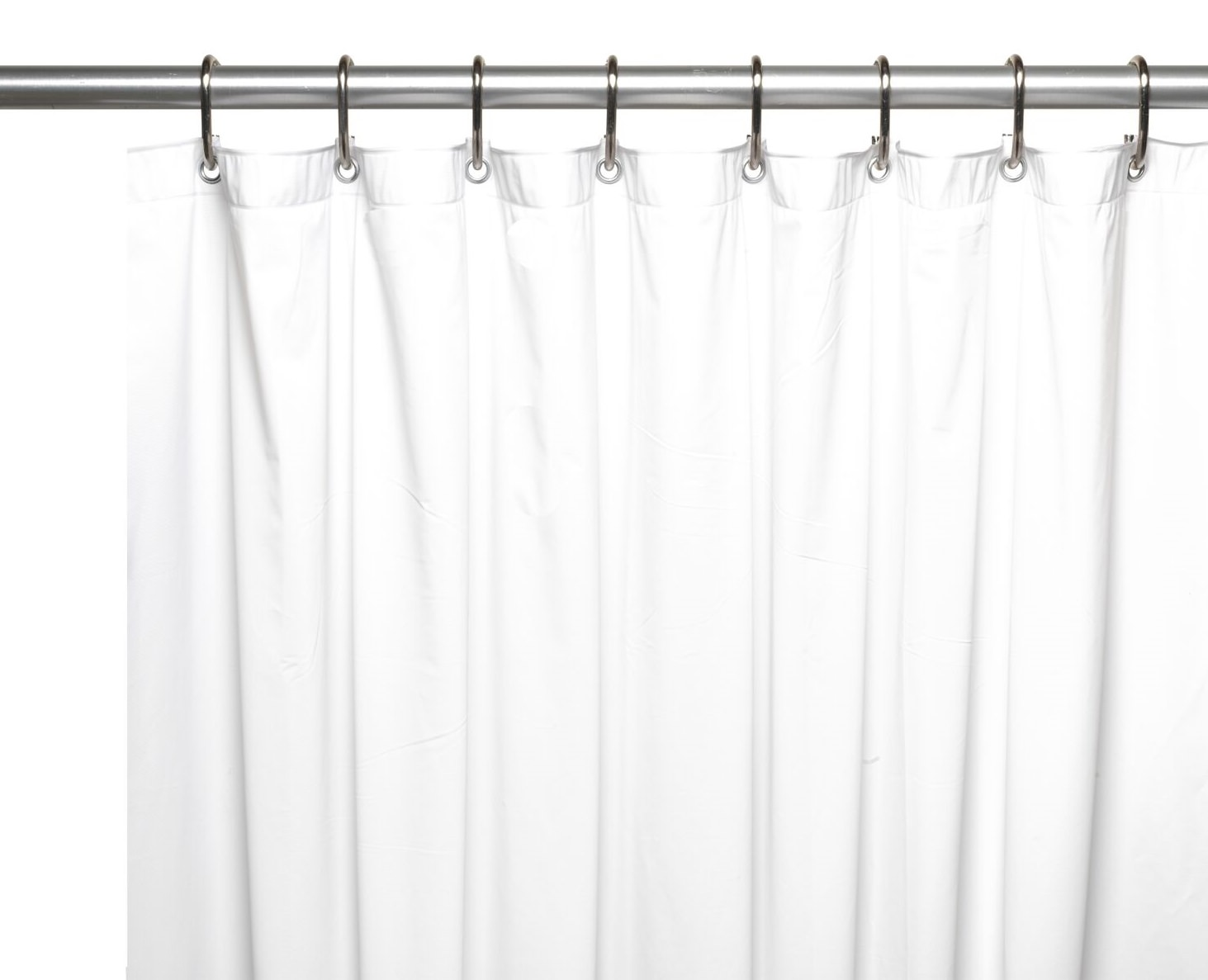 108 Long Shower Curtain Royal Bath Extra Wide 5 Gauge Vinyl Shower Curtain Liner With Metal Grommets In White Size 108 Wide X 72 Long