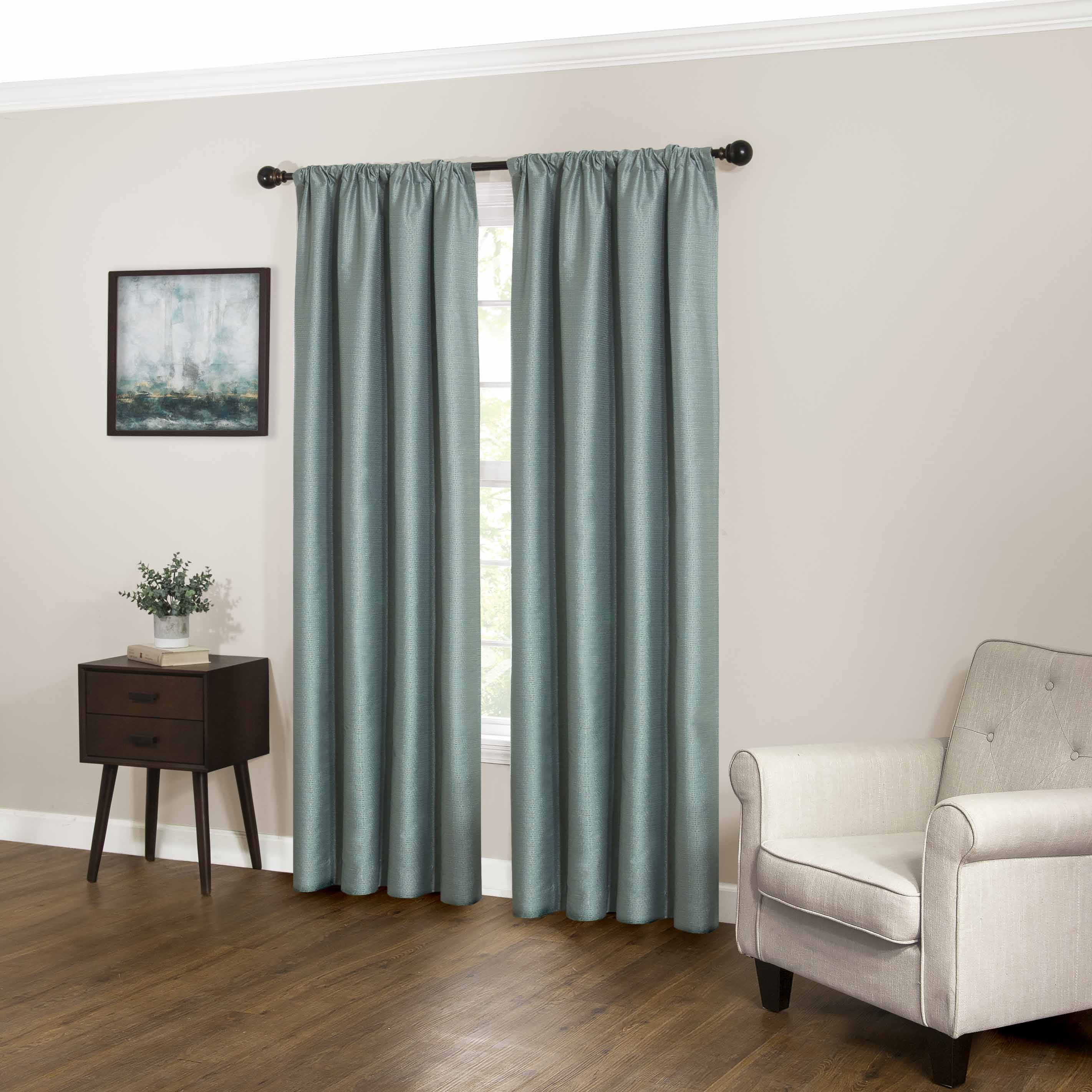 Teal Blackout Curtains Eclipse Ludlow Fashion Blackout Window Curtain
