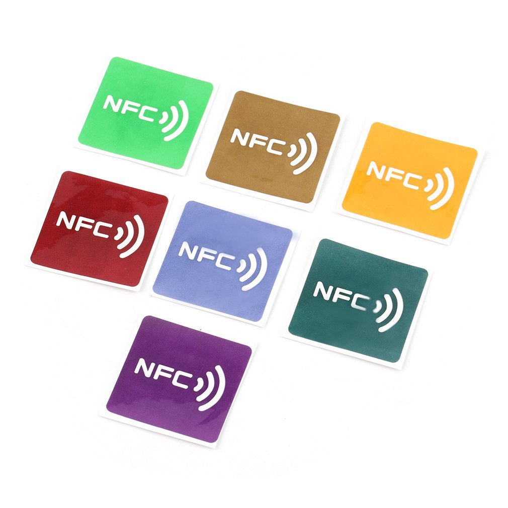 Nfc Tags 7pcs Universal Nfc Tags Multicolor Square Nfc Tag Stickers Lables For Nfc Enabled Device Wholesale