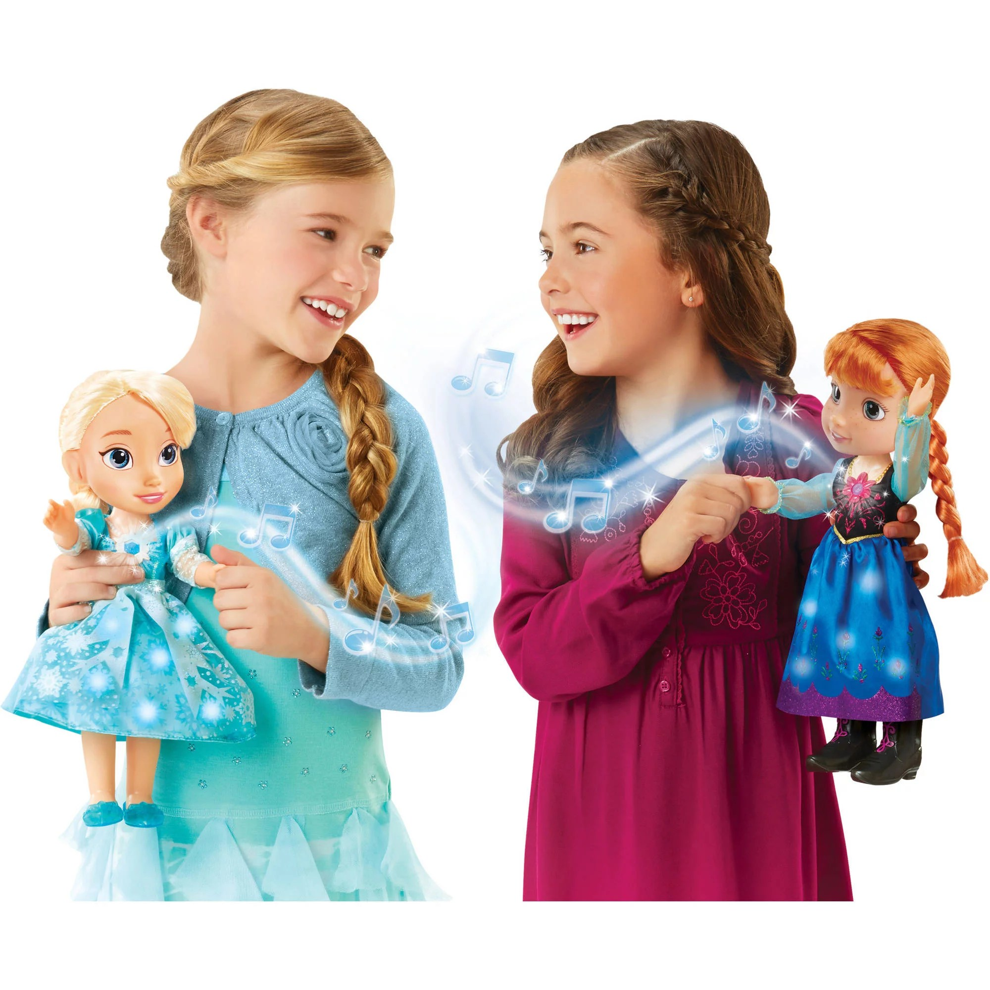Elsa Anna Disney Frozen Singing Sisters Elsa And Anna Dolls Exclusive