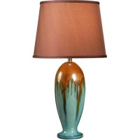 Kenroy Home Tucson Table Lamp, Teal Ceramic