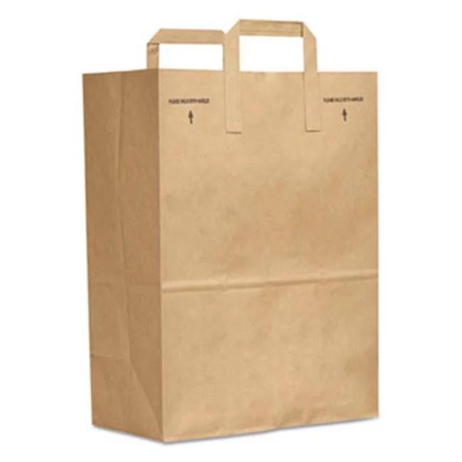 Bag Sk1670ez300 Paper Bag E Z Tote Handle Sack Brown