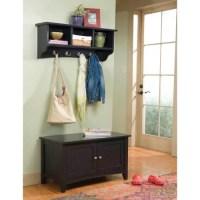 Alaterra Shaker Cottage Storage Bench and Coat Rack Set ...