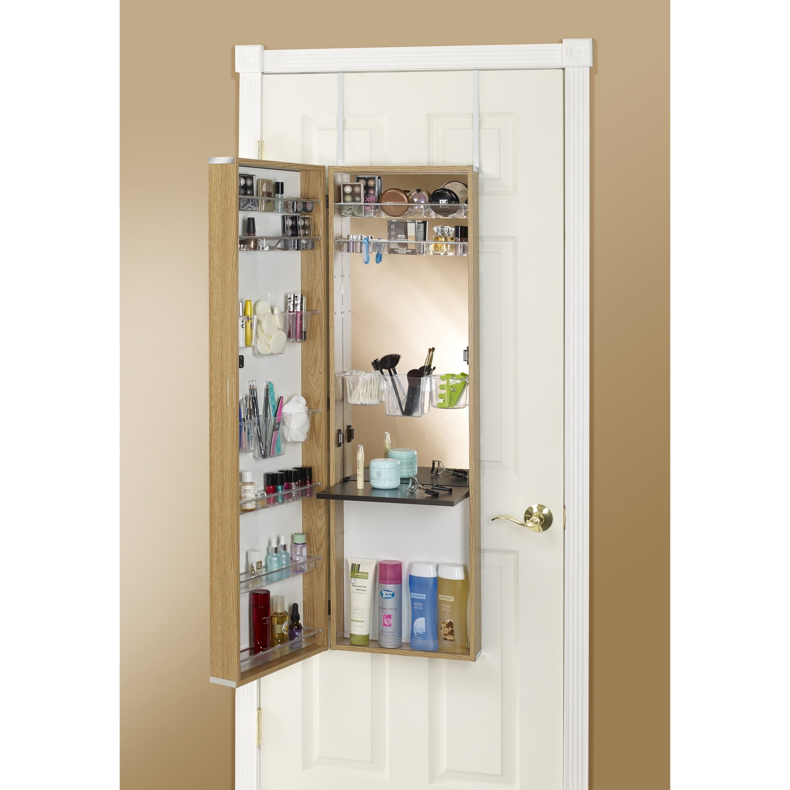 Armoire Habits Mirrotek Over The Door Beauty Armoire With Vanity Table