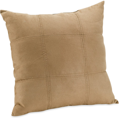 Mainstays Suede Brownstone Decorative Pillow