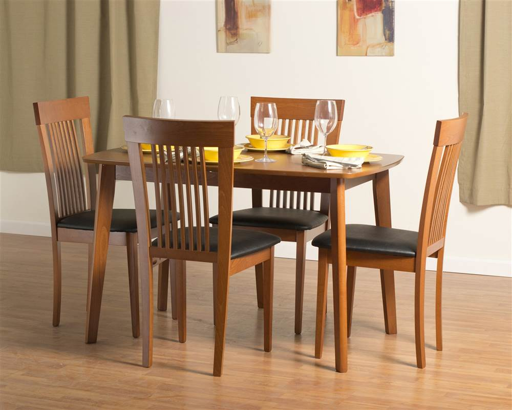 Dayton Dining Table Set With Hartford Dining Chairs In