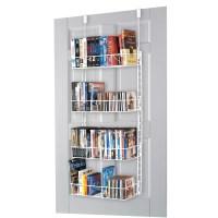Grayline Housewares Media Storage Rack - Door-mountable ...