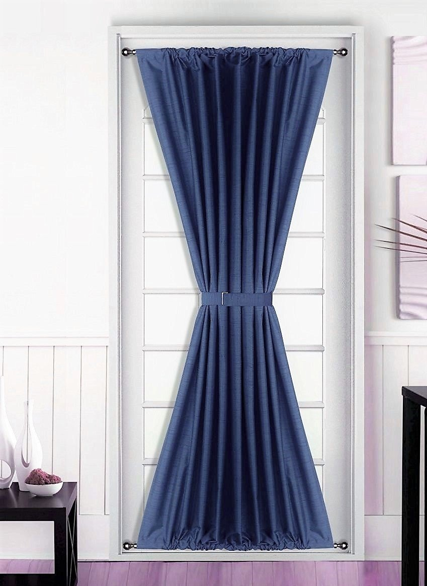 Heavy Thermal Curtains 1 Pc Insulated Heavy Thick French Door Thermal Blackout Rod Pocket Curtain Panel With Tieback 55