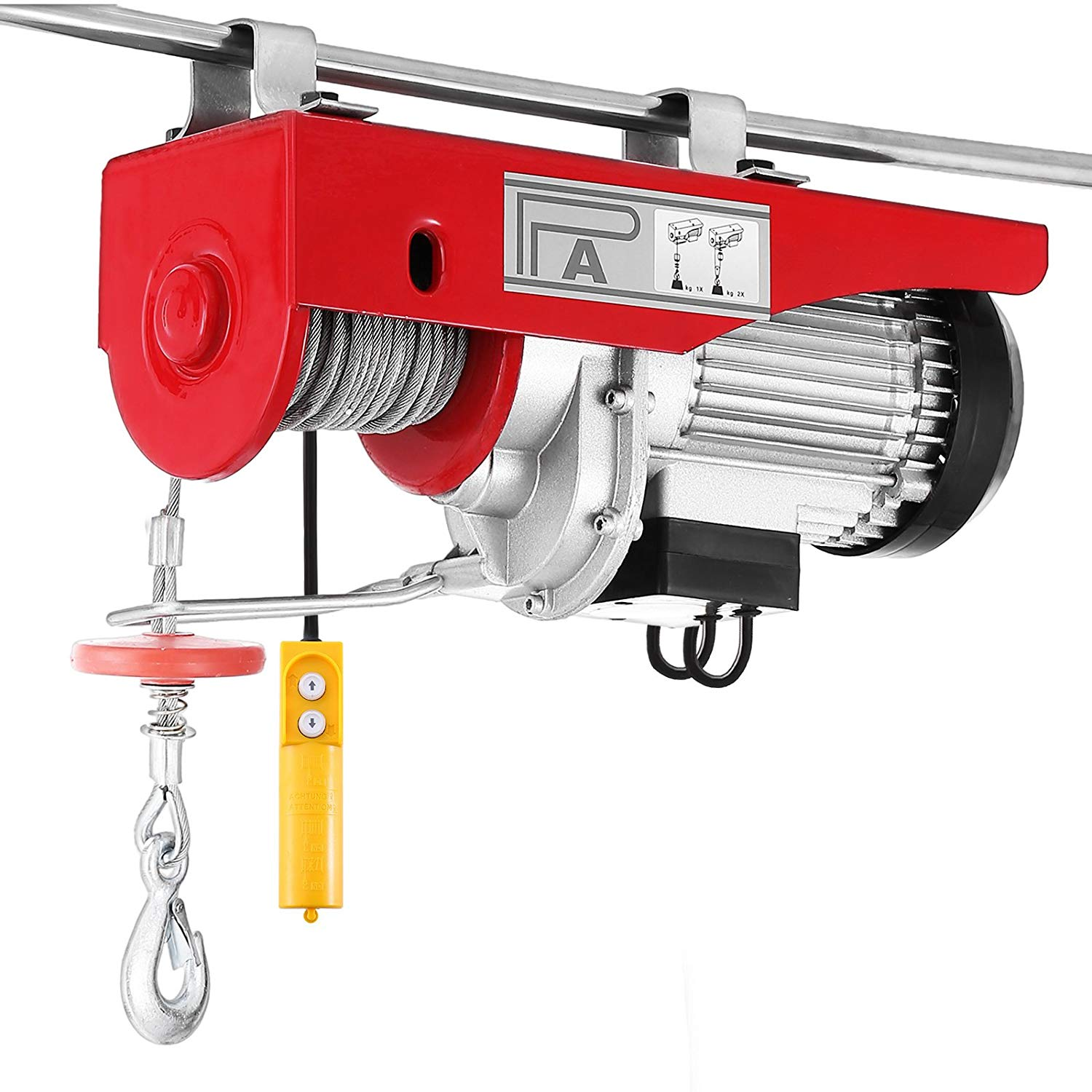 Garage Auto 95 Bestequip Electric Hoist Lift 1320lbs 600kg Overhead Electric Hoist 110v Electric Wire Hoist Remote Control Garage Auto Shop Overhead Lift