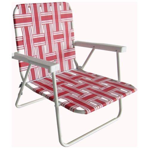 Mainstays Beach Height Web Chair Red Stripe Walmartcom