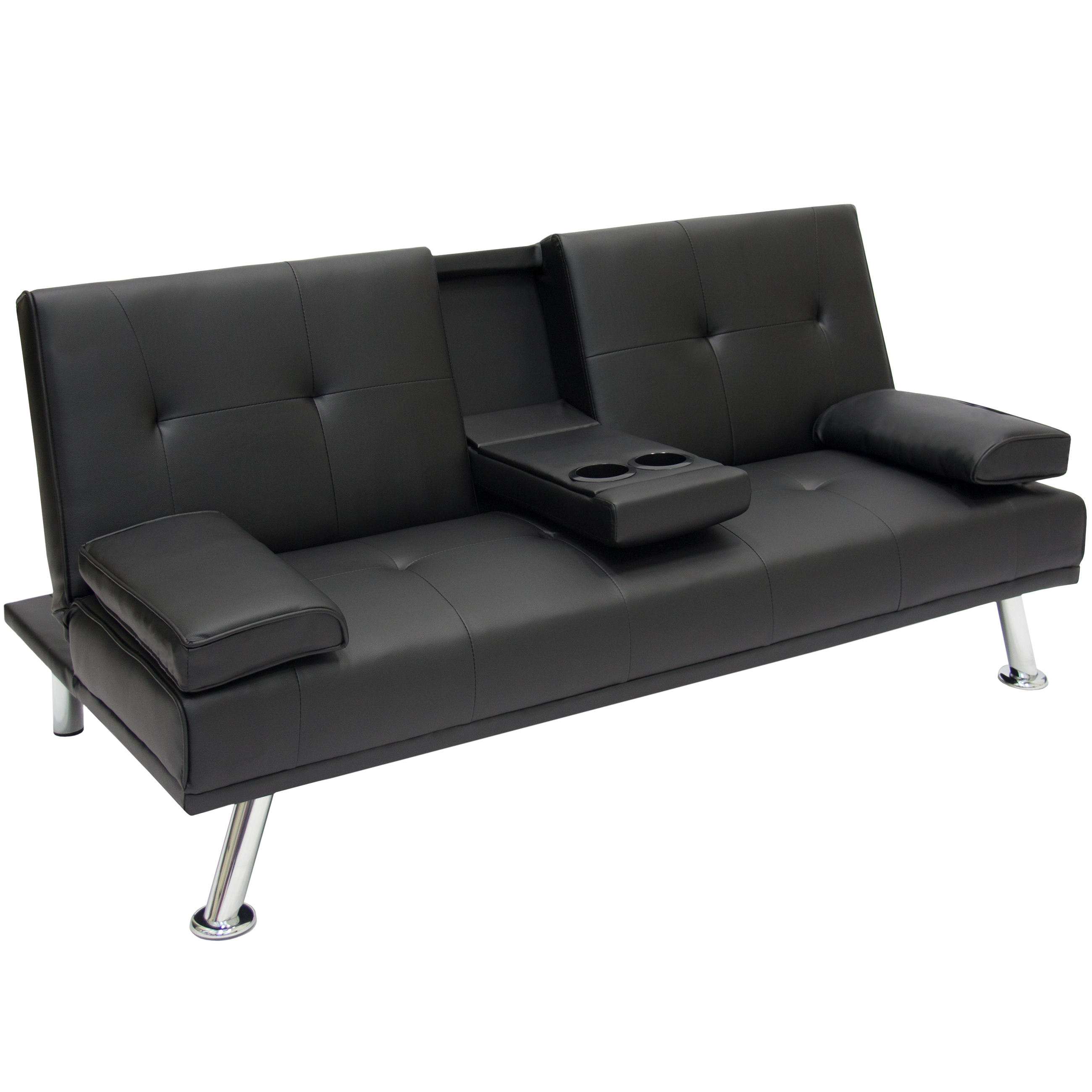 Sofa Modern Best Choice Products Modern Entertainment Futon Sofa Bed Fold Up Down Recliner Couch With Cup Holders Furniture