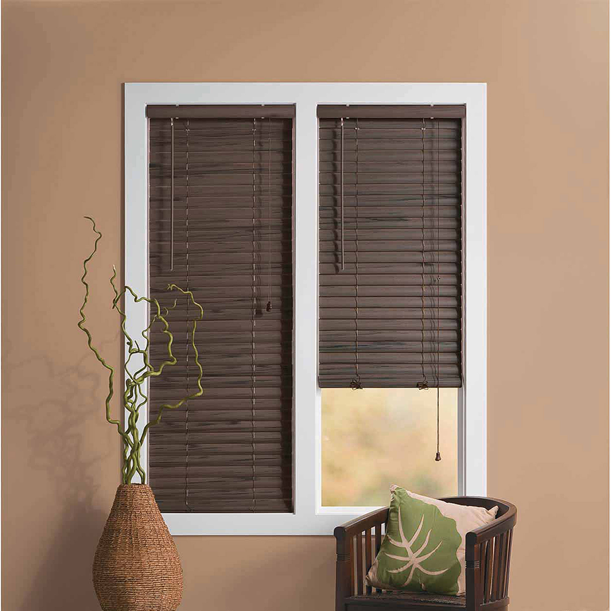 Wood Mini Blinds Designers Touch Faux Wood Mini Blind