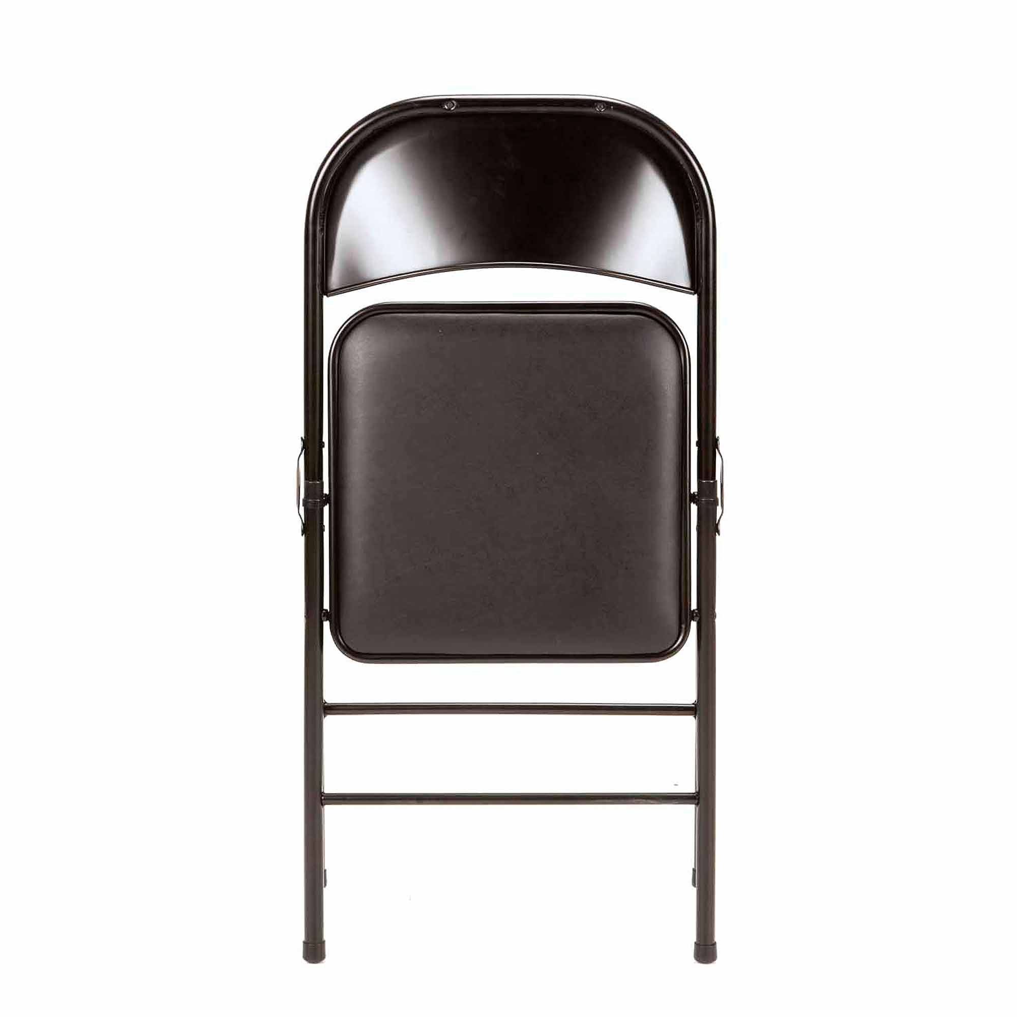 Chairs Folding Mainstays Vinyl 4 Pack Folding Chair In Black