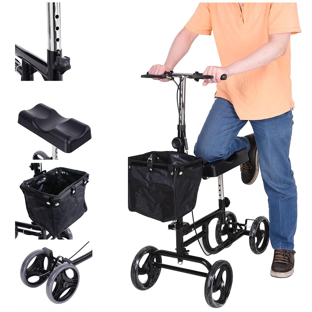 Best Knee Stroller Steerable Medical Knee Walker Scooter W Basket Weight Capacity 295 Lbs