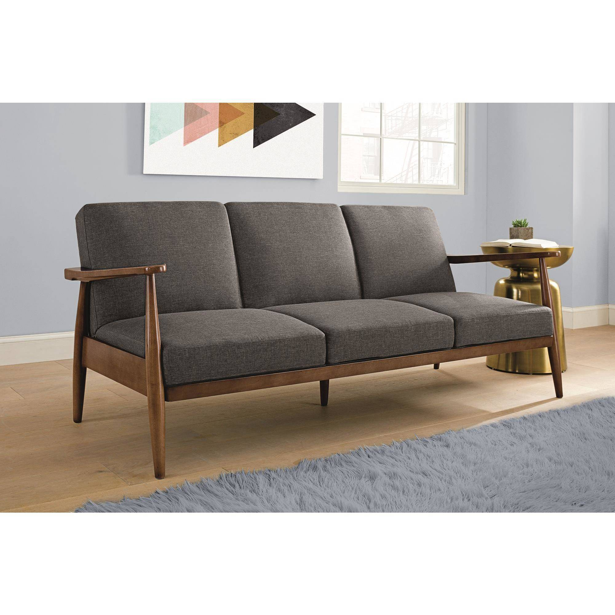Futon Schlafsofa Better Homes And Gardens Flynn Mid Century Futon Multiple Colors