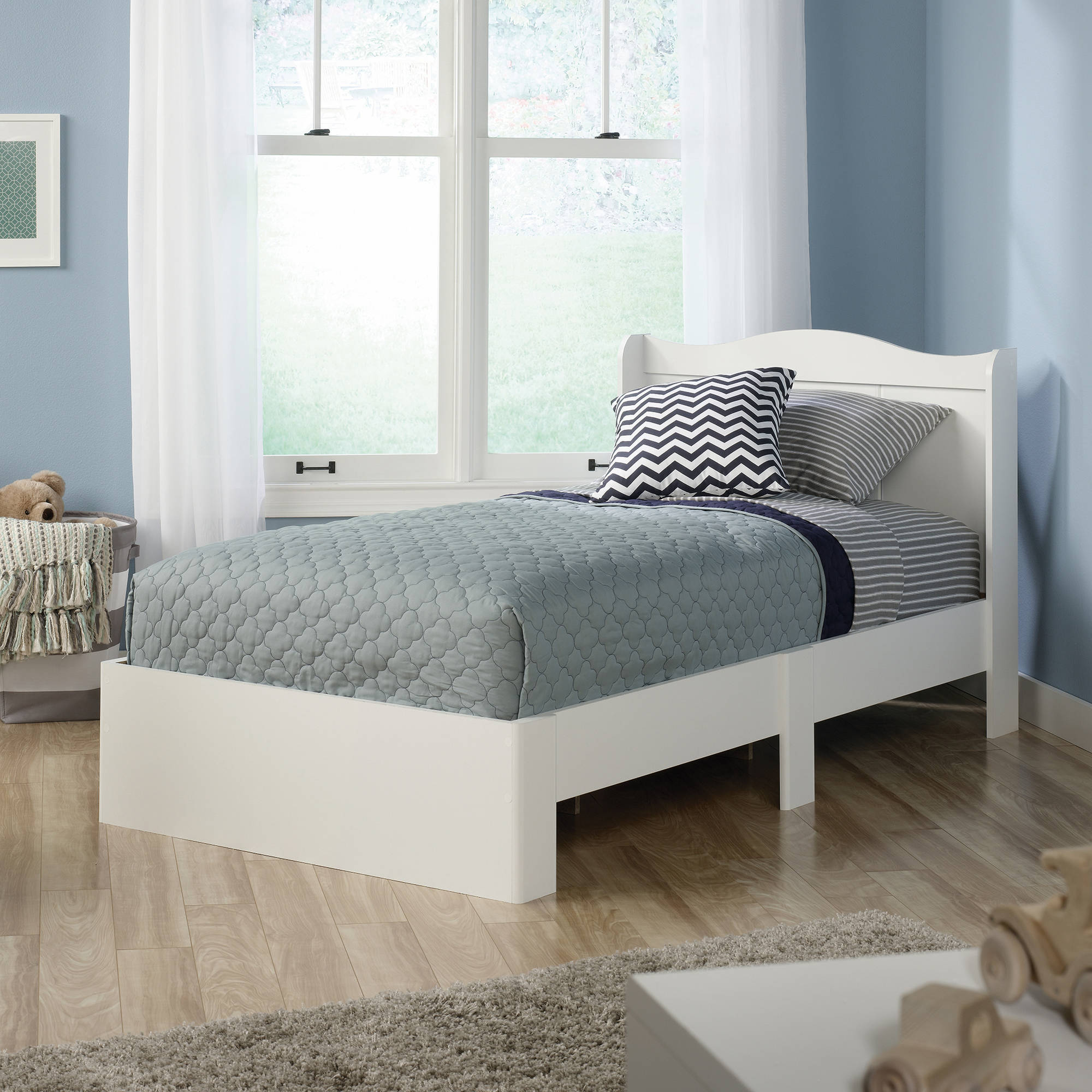 White Platform Bed Without Headboard Sauder Storybook Mates Bed Twin Multiple Finishes With Headboard