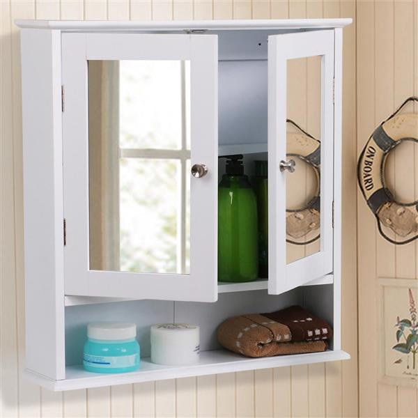 Bathroom Wall Cabinet With Mirror White Walmart Com