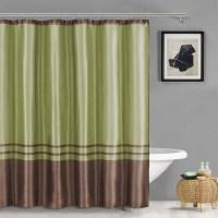 Sabrina Faux Silk Shower Curtain - Walmart.com